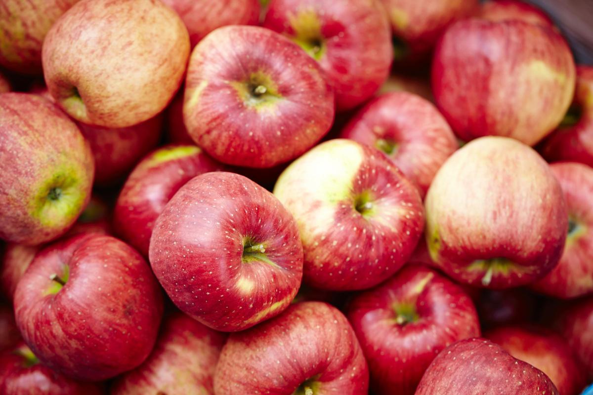 いっぱいのリンゴ