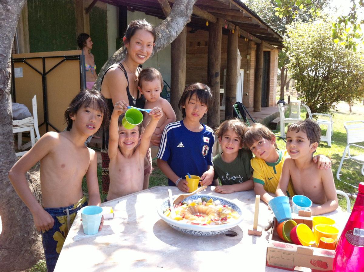 日登美さんと子どもたち