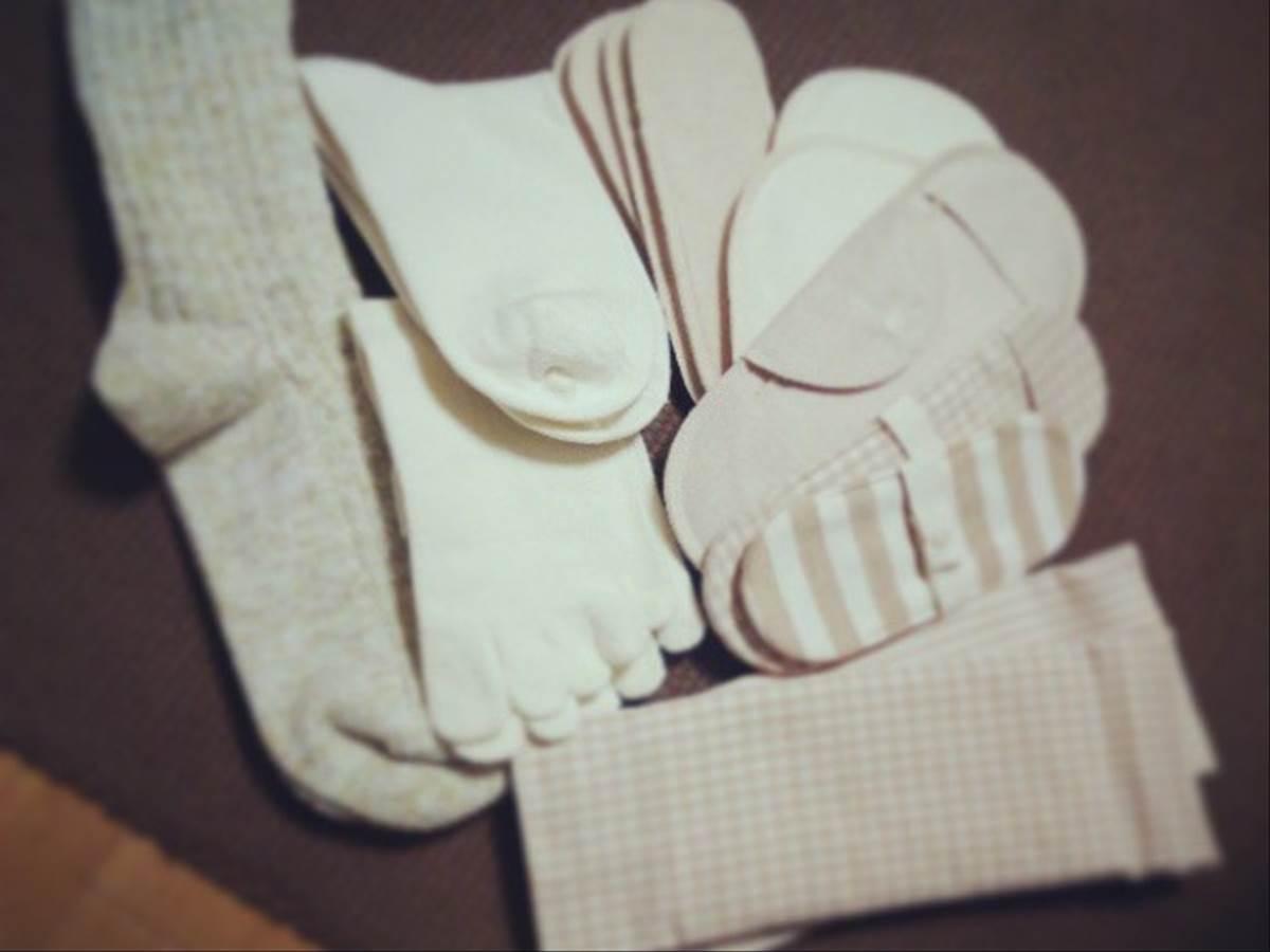 布ナプキンと冷え取り靴下